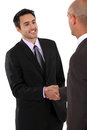 A business handshake is good way to say hello Stock Photography