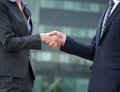 Business Handshake Greeting Royalty Free Stock Photo