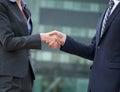 Business Handshake Greeting Royalty Free Stock Photo