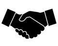 Business handshake icon vector illustration Royalty Free Stock Photo