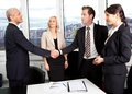 Business handshake over the deal Stock Photo