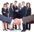 Business handshake professional group meeting Stock Images