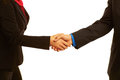 Business handshake sealing the deal isolated on white Royalty Free Stock Image