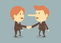 Business handshake two on bule background Stock Image