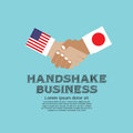 Business handshake vector illustration united states of america and japan eps Stock Photography