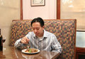 Business having lunch man Royaltyfri Foto