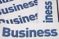 Business heading of newspaper Stock Photography