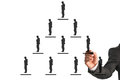 Business hierarchy concept Royalty Free Stock Photo