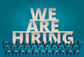 Business hiring concept. HR manager hiring employee or workers for job. Recruiting staff or personnel in company.