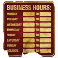 Business Hours Degraded Royalty Free Stock Images