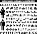 Business and human reosurces icons this is a collection of Stock Photos