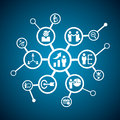 Business human resource connect icon together Stock Images