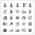 Business human resource and finance icons set eps don t use transparency Royalty Free Stock Photography