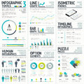 Business and human vector infographic element big Royalty Free Stock Photo