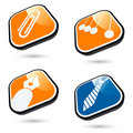 Business icon buttons Royalty Free Stock Photo
