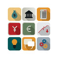 Business icon set finance or for the apps Stock Photos