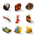 Business icon set illustration on white background Stock Image