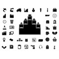 Business icon silhouette isolated graphic eps Stock Photography