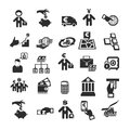 Business icons author s illustration in Stock Photos