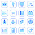 Business icons - blue series Royalty Free Stock Photo