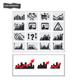 Business icons finance stock trading icon vector iconmanagement Royalty Free Stock Photography