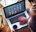 Business Icons Folder Profile Lightbulb Concept Royalty Free Stock Photo