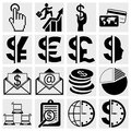 Business icons human resource finance logistic icon set Stock Image