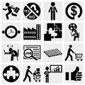 Business icons human resource finance logistic set isolated on grey background eps file available Stock Photos