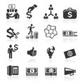 Business icons management and human resources set Royalty Free Stock Photos