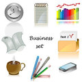 Business icons for office Vector set Royalty Free Stock Images