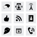 Business icons over white background vector illustration Stock Photography