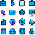 Business icons set Stock Photos