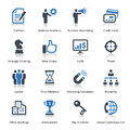 Business icons set blue series this contains that can be used for designing and developing websites as well as printed materials Royalty Free Stock Photography