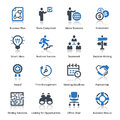 Business icons set blue series this contains that can be used for designing and developing websites as well as printed materials Stock Photo