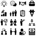 Business icons set of isolated on a white background eps Stock Images