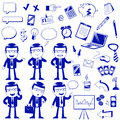 Business icons set of related to and finance Royalty Free Stock Photo
