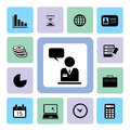 Business icons set for use Stock Photos
