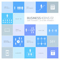 Business icons set vector abstrac and pictograms Royalty Free Stock Images