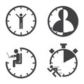 Business icons. Time management concept. Vector Royalty Free Stock Photo