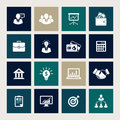 Business icons vector set of Stock Images