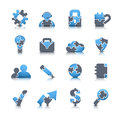 Business icons vector set of made of puzzle Stock Photo