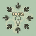 Business idea background concept with a retro style Royalty Free Stock Images