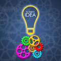Business Idea with color gears and transparent gears Royalty Free Stock Photo