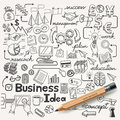 Business idea doodles icons set vector illustration Stock Photography