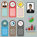 Business idea infographic with icons, persons, money and charts, flat design Royalty Free Stock Photo