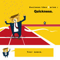 Business idea series quickness vector illustration Royalty Free Stock Photography