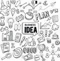 Business Idea vector doodles