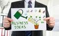 Business ideas concept shown by a businessman