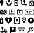 Business ideas illustrated set of different icons with idea light bulbs on white background Stock Photos