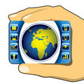 Business illustration with globe. Stock Photography